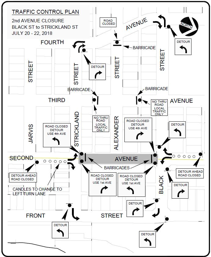 Second Ave Closure 2018 July 20-22